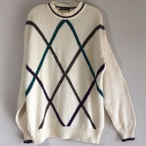 Oversized Mens Vintage Sweater Cotton Pattern